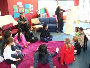 Learning to sing 'E te Atua'